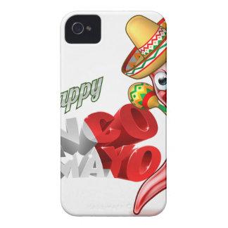 Diseño de la pimienta de chiles de Cinco De Mayo Funda Para iPhone 4 De Case-Mate