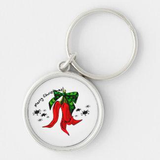 diseño de la pimienta roja de las Felices Navidad  Llaveros