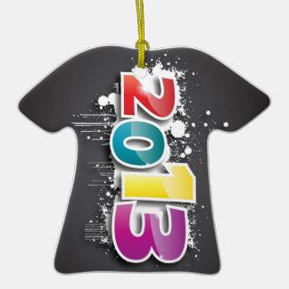 Diseño de la pintada 2013 adorno de cerámica en forma de camiseta