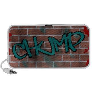 diseño de la pintada del ghetto de la pared de lad iPhone altavoz