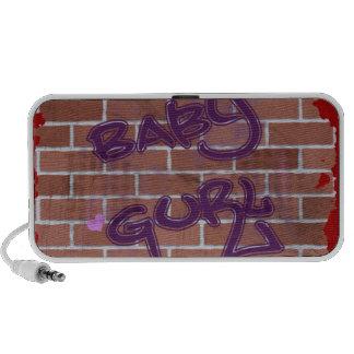 diseño de la pintada del ghetto de la pared de lad iPhone altavoces