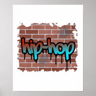 diseño de la pintada del hip-hop posters