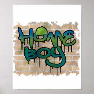 diseño de la pintada del homeboy póster