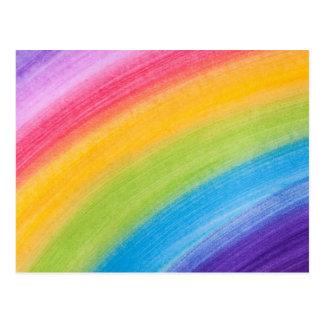 Diseño de la pintura de los colores del arco iris tarjeta postal