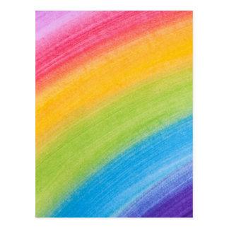 Diseño de la pintura de los colores del arco iris postales