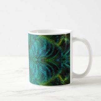 Diseño de la pluma del caleidoscopio taza de café