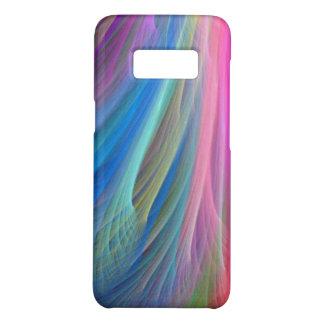 Diseño de la pluma del color del arco iris funda de Case-Mate para samsung galaxy s8