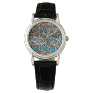 diseño de la pluma del Pavo real-faisán Reloj De Pulsera
