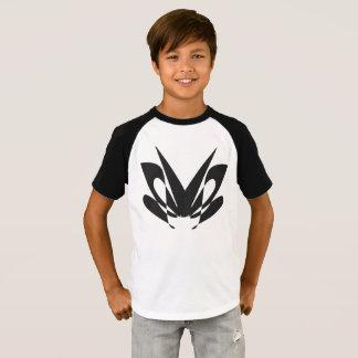 diseño de la polilla - camiseta corta del raglán