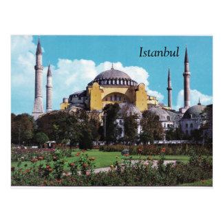 Diseño de la postal de Estambul del vintage