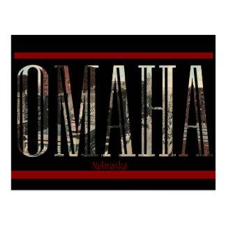 Diseño de la postal de Omaha del vintage