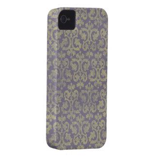 Diseño de la púrpura y del verde iPhone 4 fundas