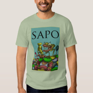 diseño de la rana camisetas