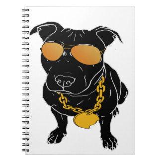 Diseño de la raza del matón cuaderno