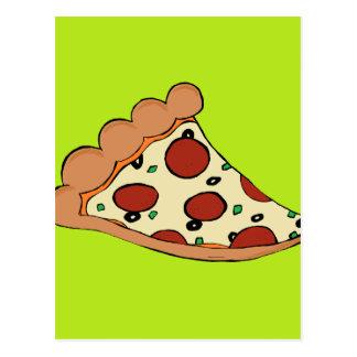 Diseño de la rebanada de la pizza postal