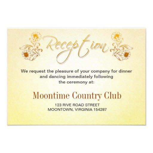 diseño de la recepción del aniversario de boda comunicado personalizado