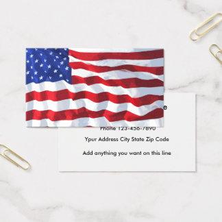 Diseño de la tarjeta de visita de la bandera