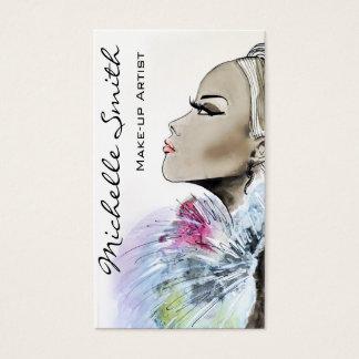 Diseño de la tarjeta de visita del artista de