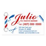 Diseño de la tarjeta de visita del peluquero (pers