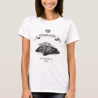 Diseño de la tipografía de Fleuriste Digital del Camiseta