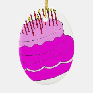 Diseño de la torta de cumpleaños ornamento de navidad