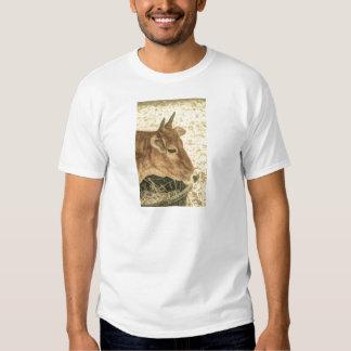 Diseño de la vaca de Brown Camisetas