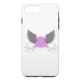 Diseño de las alas del ángel del amor de la paz funda iPhone 7 plus