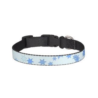 Diseño de las estrellas azules collar para mascotas