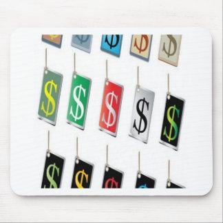 Diseño de las etiquetas de la muestra del dinero alfombrilla de ratón