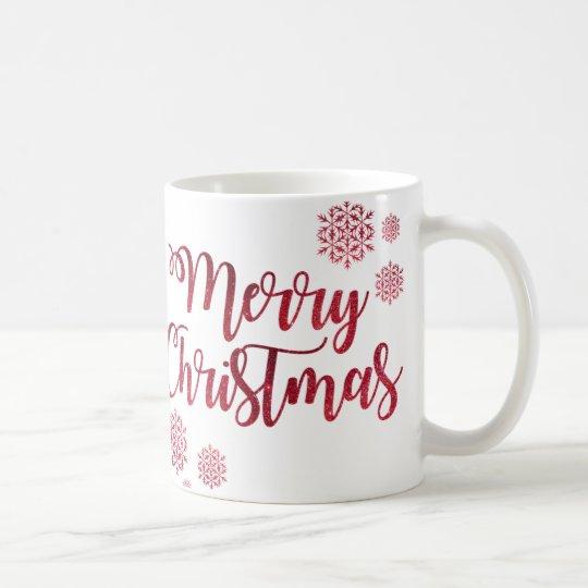 Diseño de las Felices Navidad Taza De Café