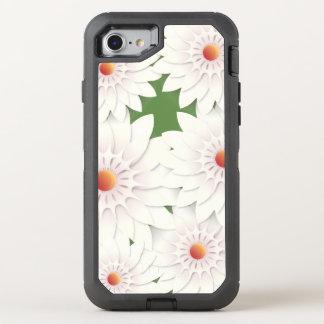 Diseño de las flores blancas funda OtterBox defender para iPhone 8/7