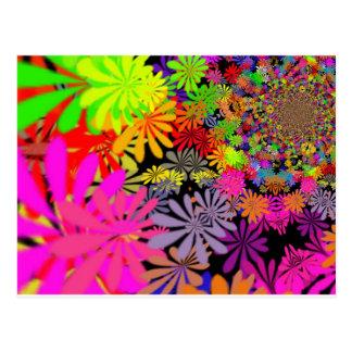 Diseño de las flores del Hippie Postal
