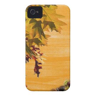 Diseño de las hojas de Brown para su iphone4 iPhone 4 Case-Mate Funda