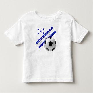Diseño de las ilustraciones de la bola del fútbol camiseta de bebé
