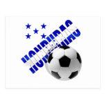 Diseño de las ilustraciones de la bola del fútbol  postal