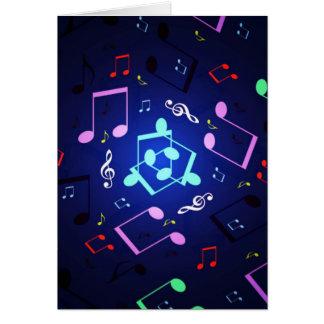 Diseño de las notas musicales tarjeta de felicitación