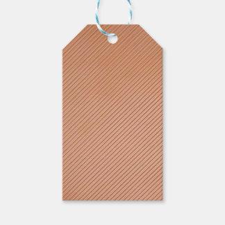 diseño de las rayas de la Cobre-mirada Etiquetas Para Regalos
