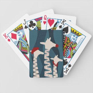 Diseño de las vacaciones de las jirafas baraja de cartas bicycle