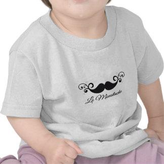 Diseño de Le Moustache con el bigote rizado Camiseta
