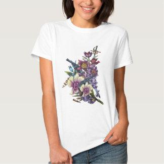 Diseño de los armas de la pistola de la flor camisas