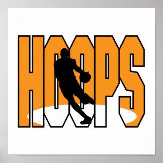 diseño de los aros de baloncesto póster