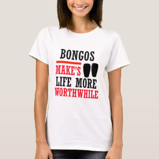 diseño de los bongos camiseta