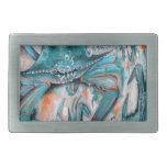 Diseño de los cangrejos azules hebilla de cinturon rectangular