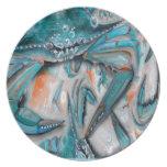 Diseño de los cangrejos azules plato de comida