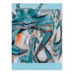 Diseño de los cangrejos azules postal