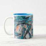 Diseño de los cangrejos azules tazas de café