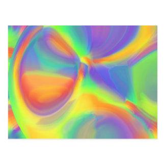 Diseño de los colores del arco iris postal