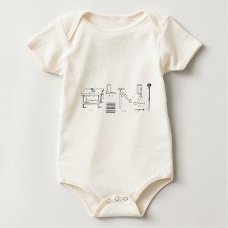 Diseño de los diagramas esquemáticos de la body para bebé