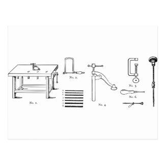 Diseño de los diagramas esquemáticos de la postal