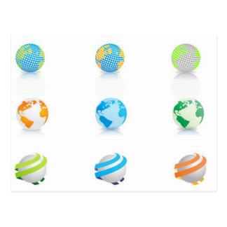 Diseño de los iconos de los globos postal